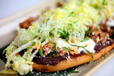 Frontera Grill best comfort food chicago; Goat huarache