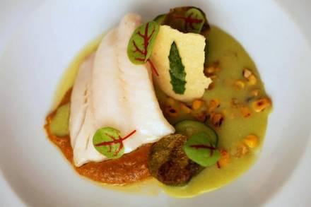 Topolobampo best french bistro chicago; Black cod in green chileatole