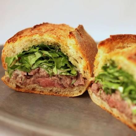 Xoco best french bistro chicago; Carne asada torta