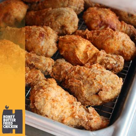 Honey Butter Fried Chicken best chicago rooftop restaurants; Honey Butter Fried Chicken