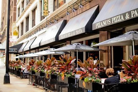 Pizano's Pizza & Pasta - Loop best chicago rooftop restaurants;