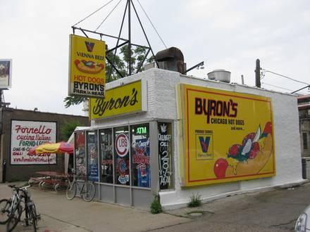 Byron's Hot Dog Haus - Wrigleyville best chicago rooftop restaurants;
