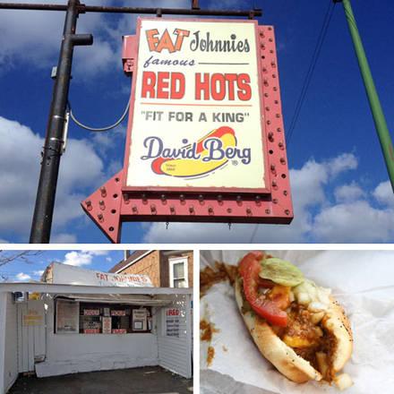 Fat Johnnie's Red Hots best chicago rooftop restaurants;