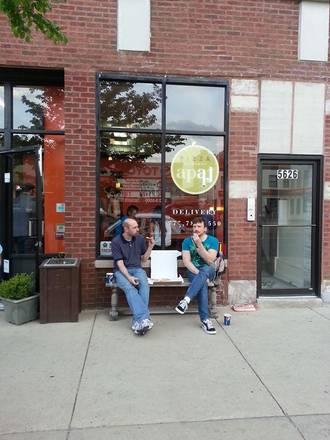 APart Pizza best ramen in chicago;