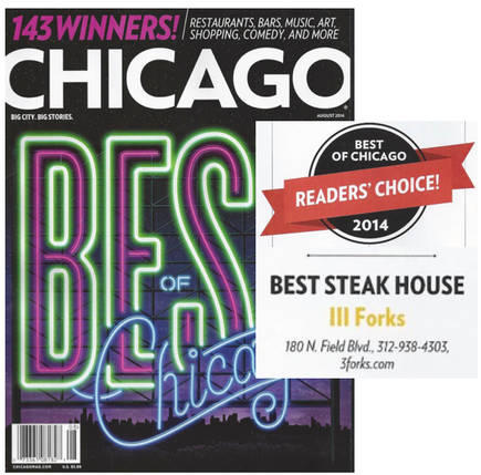 3Forks Chicago Best Steakhouse;