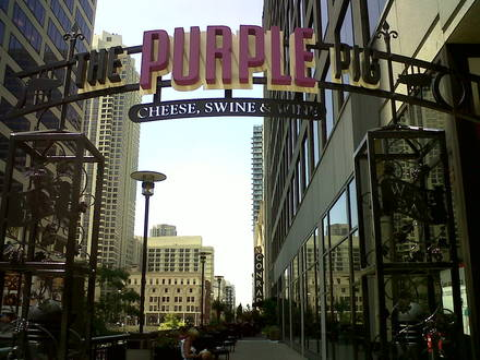 The Purple Pig best chicago rooftop restaurants;