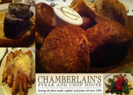 Chamberlain's Steak and Chop House Top 10 Steakhouse;
