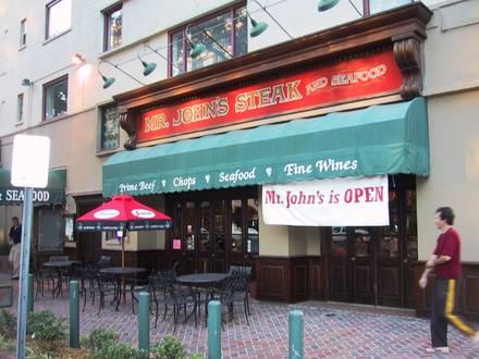 Mr. John's Steakhouse Best Steakhouse;