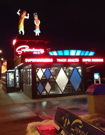 Superdawg Drive-In best comfort food chicago;