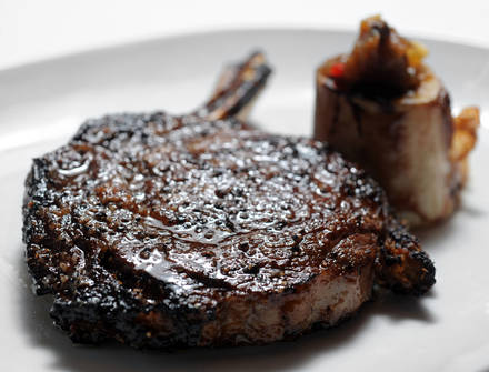 Top of Binion's Steakhouse USDA Best Steaks;