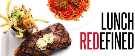 Red, The Steakhouse, 417 Prospect Avenue USDA Best Steaks;