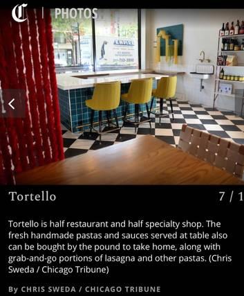 Tortello best italian restaurant in chicago;