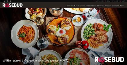 Rosebud on Rush best chicago rooftop restaurants;