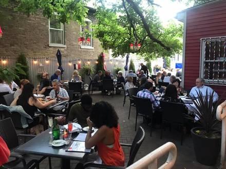 Chez Joel best chicago rooftop restaurants;