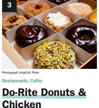 Do-Rite Donuts best restaurants west loop chicago;