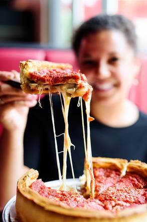 Giordano's (N. Rush St.) best italian restaurant in chicago;