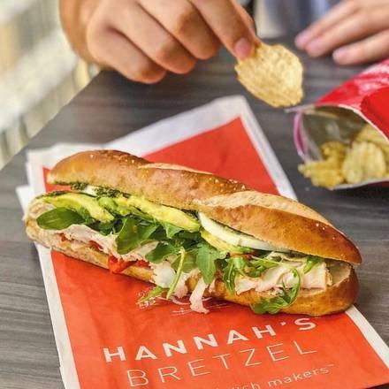 Hannah's Bretzel (Michigan Ave.) best greek in chicago;