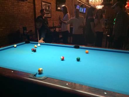 G Cue Billiards and Restaurant best greek in chicago;