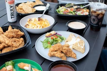 Buffalo Wings & Rings best chicago rooftop restaurants;