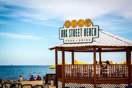 Oak Street Beach best restaurant chicago;
