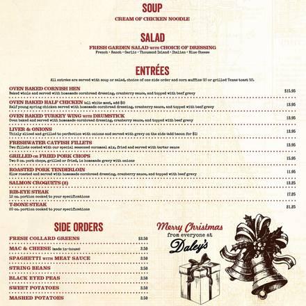 Daley's Restaurant best comfort food chicago;