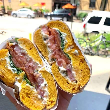 Gotham Bagels best greek in chicago;