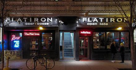The Flat Iron best greek in chicago;