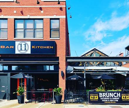 Logan 11 Bar and Grill best chicago rooftop restaurants;