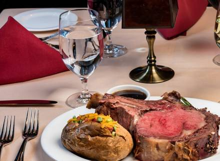 Top of Binion's Steakhouse USDA Prime Steaks;