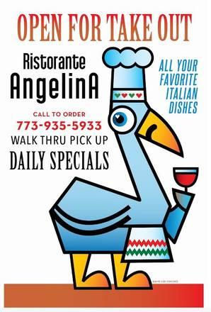 Angelina Ristorante best fried chicken in chicago;